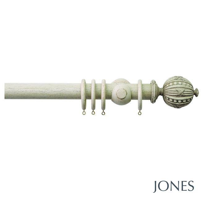hardwick poles - ribbed orb finials - 40mm - Applemoon Interiors