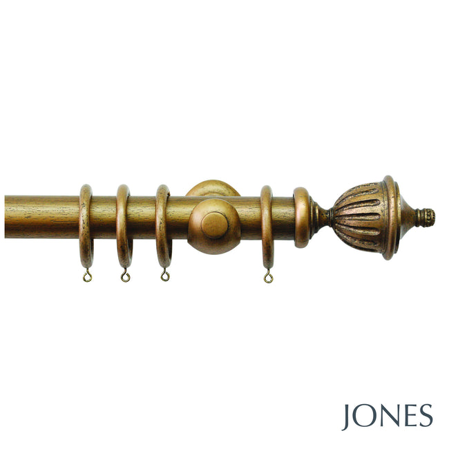hardwick poles - fluted urn finials - 40mm - Applemoon Interiors