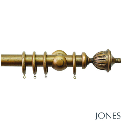 hardwick pole - urn finials - 40mm