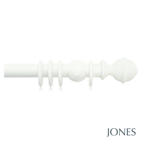 seychelles poles - woven rope finial - 40mm
