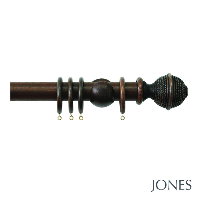 hardwick poles - woven rope finial - 40mm - Applemoon Interiors