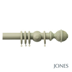 seychelles poles - woven rope finial - 40mm - Applemoon Interiors