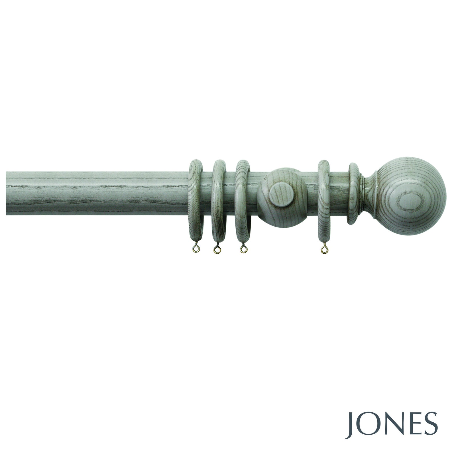oakham poles - ball finials - Applemoon Interiors
