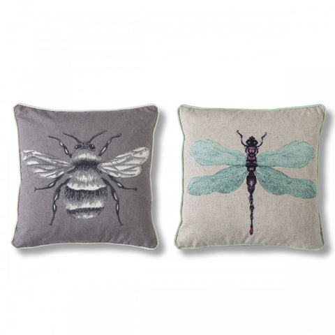 Kabuki Diamonds Cushion with Pompoms / Grey & White