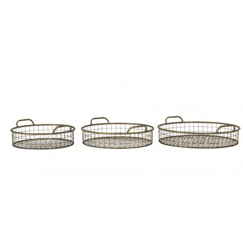 Kedah Bronze Baskets / Individual or set purchase - Applemoon Interiors
