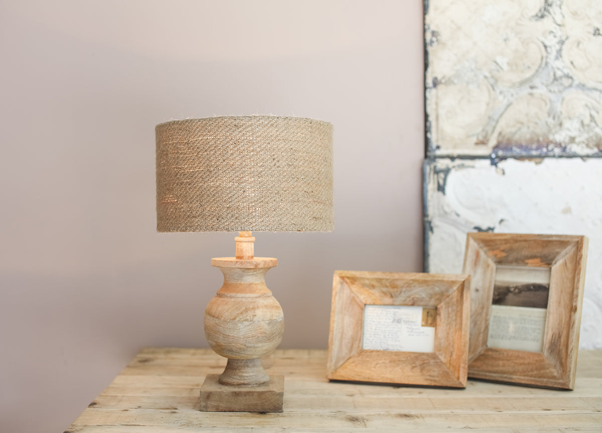 Manila Mango Wood Lamp - Applemoon Interiors