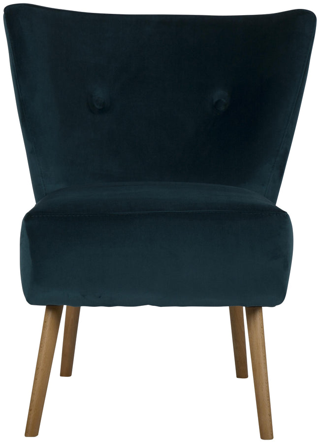 Monaco Occasional Chair Beach Oak Stain Legs - Green/Blue - Applemoon Interiors