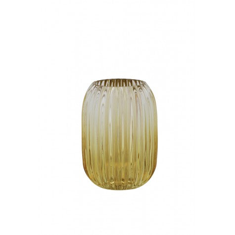 Pertu Clear Glass and Yellow Tealight - Applemoon Interiors