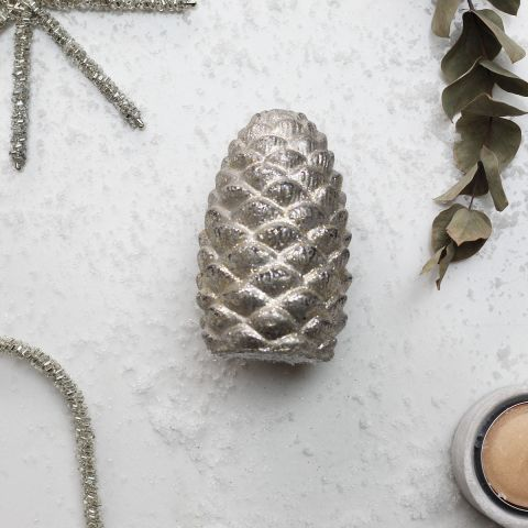 Decorative Cement Pine Cone / Gold - Applemoon Interiors