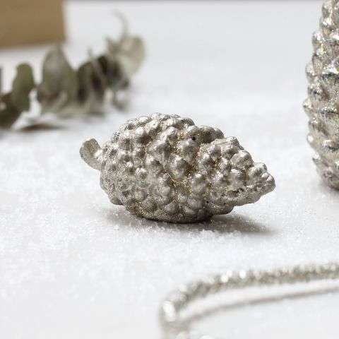 Decorative Cement Pine Cone with Stalk - Applemoon Interiors
