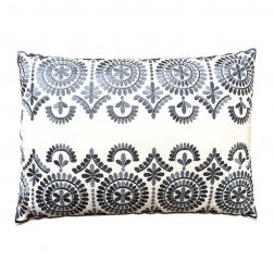 Safi Embroidered Cushion Grey - Applemoon Interiors