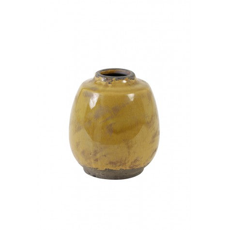 Sinabung Vase Orcher Yellow / Brown - Applemoon Interiors