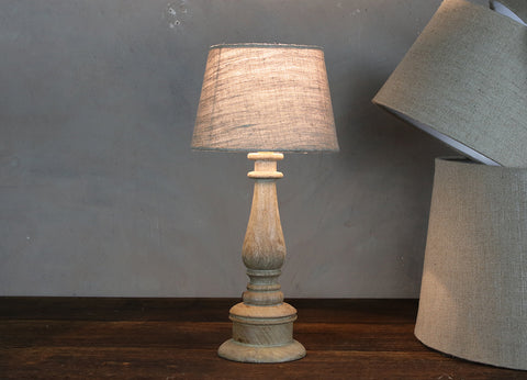 Cement Candlestick Lamp Base & Shade Se