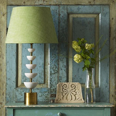 Toba Matted Green Lamp Base