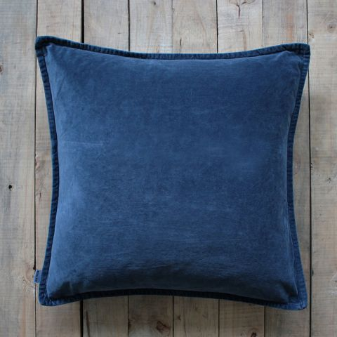 Dark Navy Velvet Cushion - Applemoon Interiors