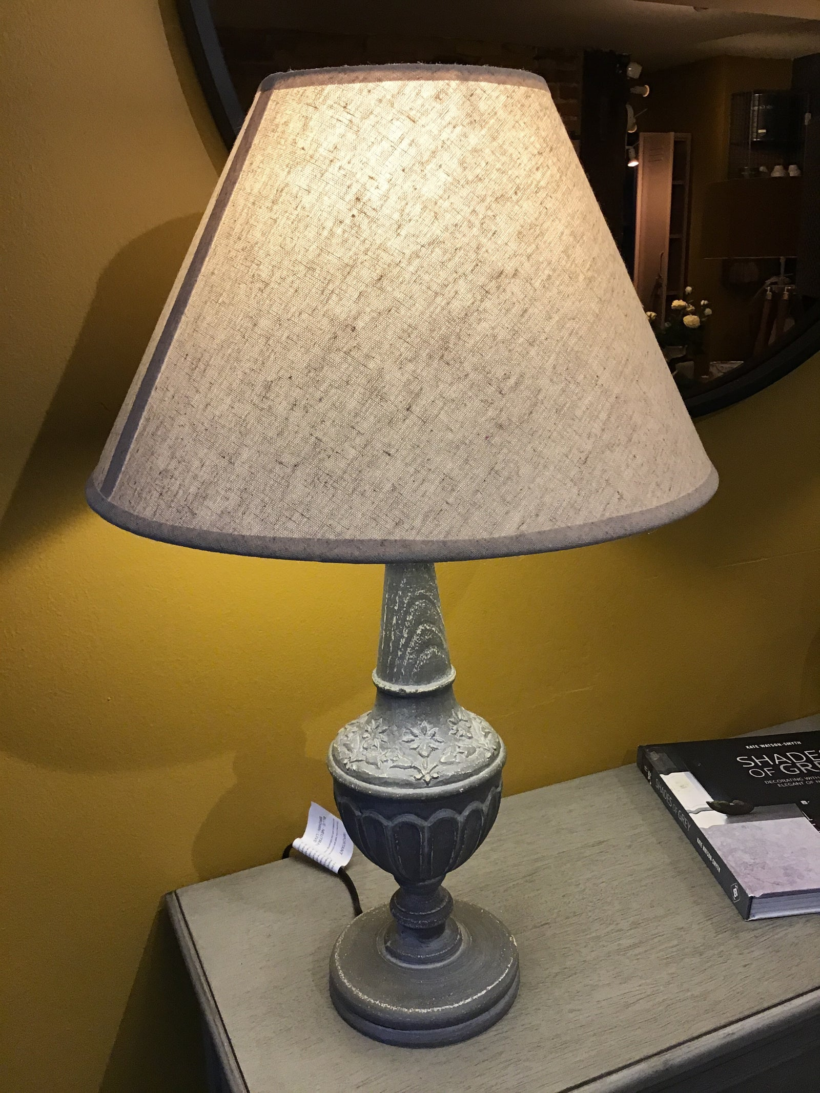 FLORENCE LAMP BASE WITH LINEN SHADE - Applemoon Interiors