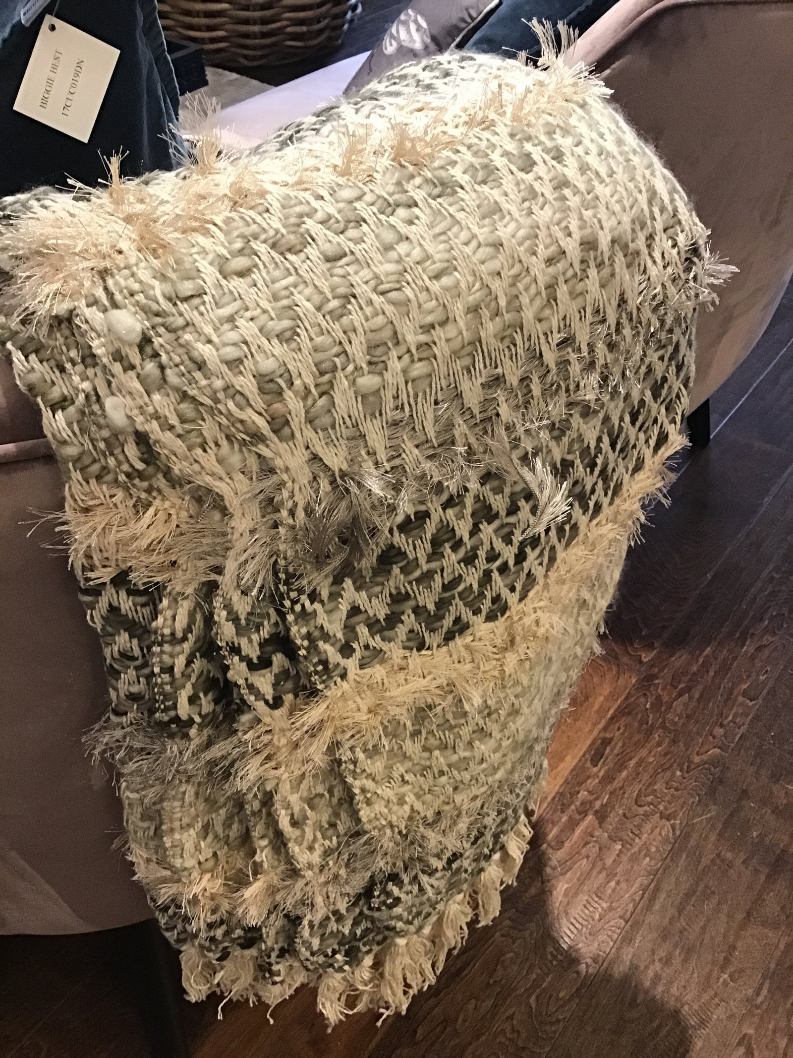 Hallbeck Textured Throw Natural - Applemoon Interiors