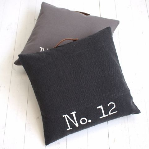 Dark Grey Cushion - Applemoon Interiors