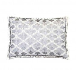Phulkari Diamond Cushions Silver Metalic - Applemoon Interiors