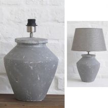 Stanley Lamp Base and Grey Shade - Applemoon Interiors
