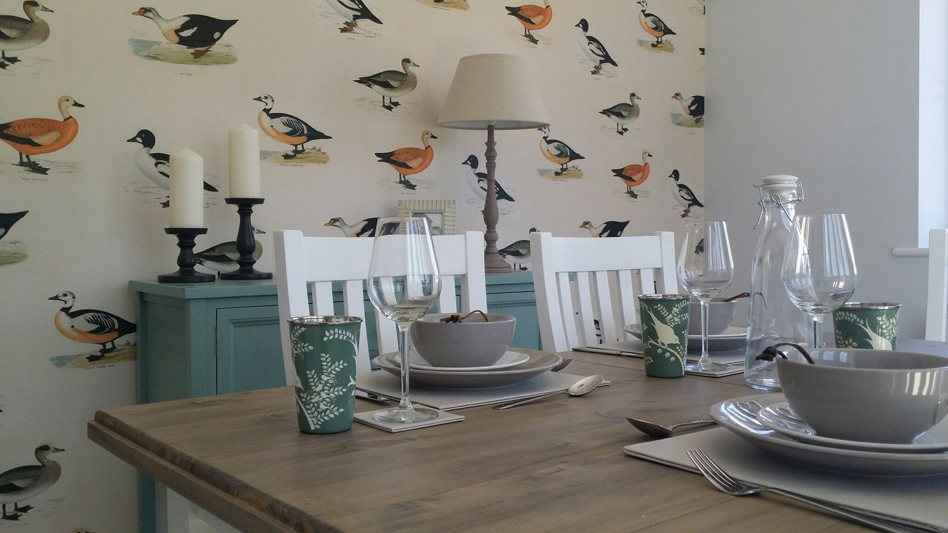 Rydon Homes Showhome Dining Room with Linwood Wallpaper