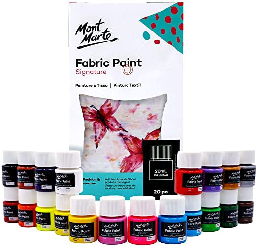 Load image into Gallery viewer, Fabric Paint Set 20pc x 20ml