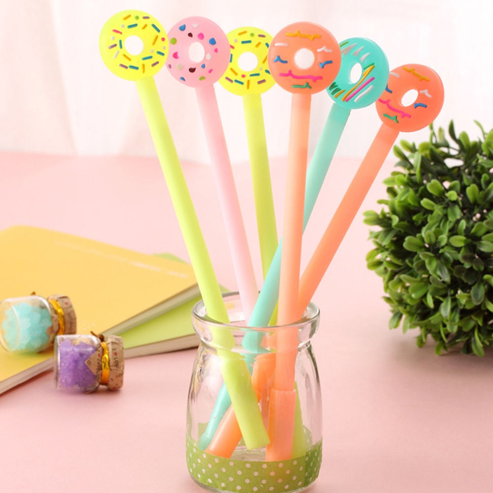 Kawaii Dessert Donuts Gel Pen Black
