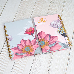 Load image into Gallery viewer, A5 Notebook Floral / العادات والتفاصيل