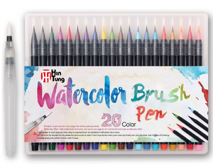 watercolor brush Pen - 20 color
