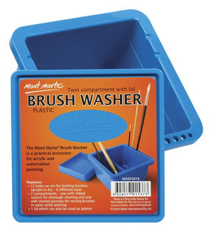 Load image into Gallery viewer, Brushwasher Twin Compartment Sq. Plastic