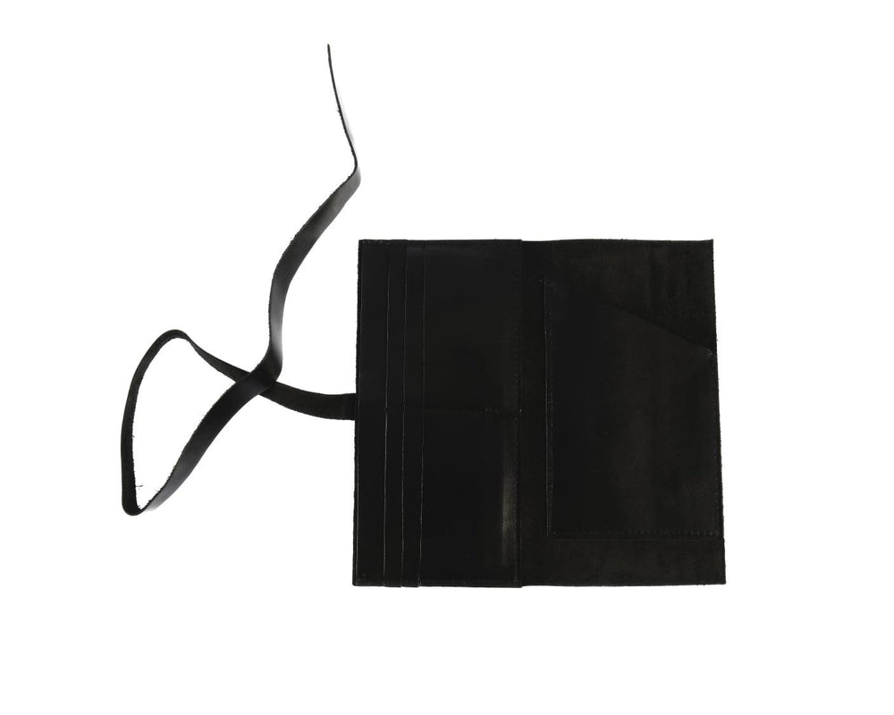 3 in 1 Leather wallet - Black