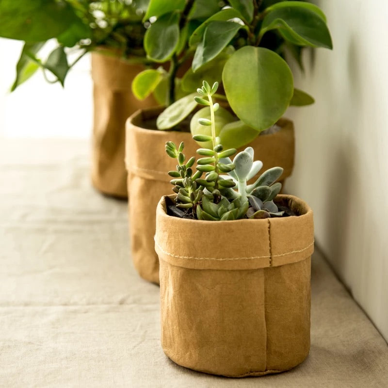 Load image into Gallery viewer, Kraft Paper Flower Pot bag