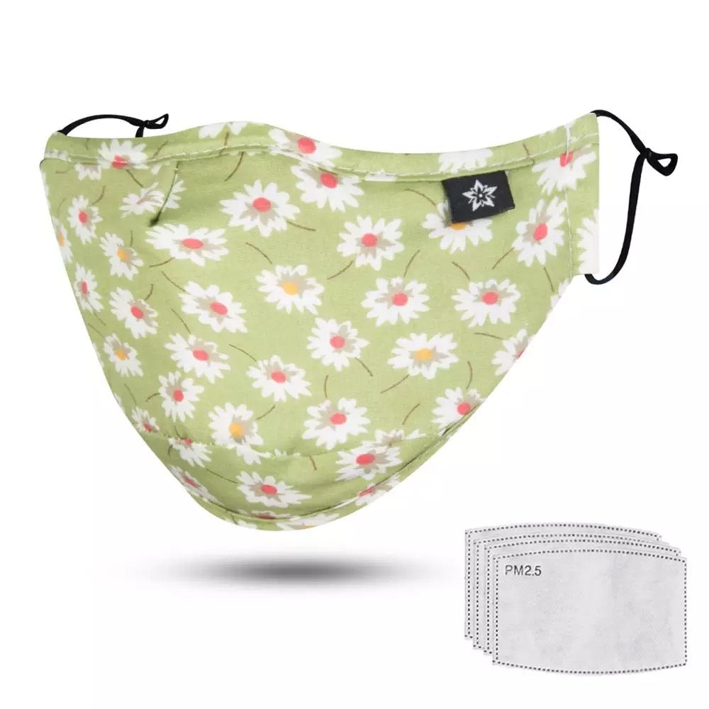Cotton face mask / green