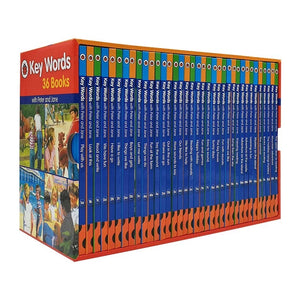 Ladybird Key Words With Peter And Jane (36 Books With Slipcase)