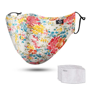 Cotton face mask / floral