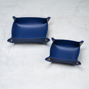 Leather tray - AZUL