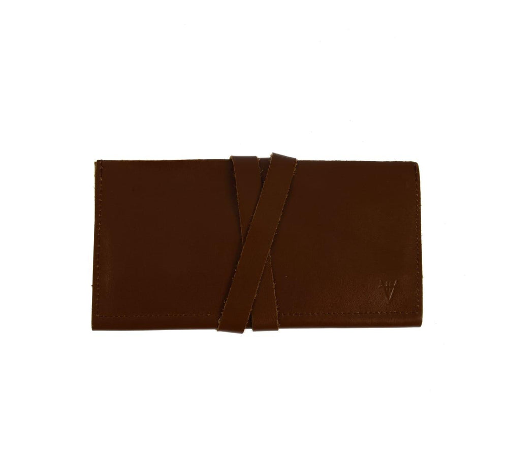 3 in 1 Leather wallet - Brown