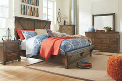 Lakeleigh Brown King Bed w/ Dresser Mirror & Nightstand