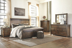 Lakeleigh Brown Queen Bed w/ Dresser Mirror & Nightstand
