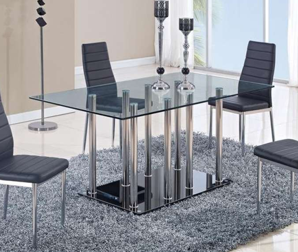 D368 Dom Only Black Dining Table