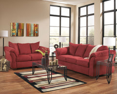 Darcy Salsa Sofa and Loveseat