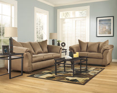 Darcy Mocha Sofa and Loveseat