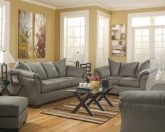Darcy Cobblestone Sofa and Loveseat - Ashley shop at  Regency Furniture