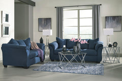 Darcy Blue Sofa and Loveseat