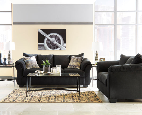 Darcy Black Sofa and Loveseat - Ashley shop at  Regency Furniture