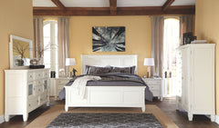 Prentice King Panel Bed w/ Dresser Mirror & Nightstand