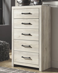 Cambeck Whitewash Five Drawer Chest
