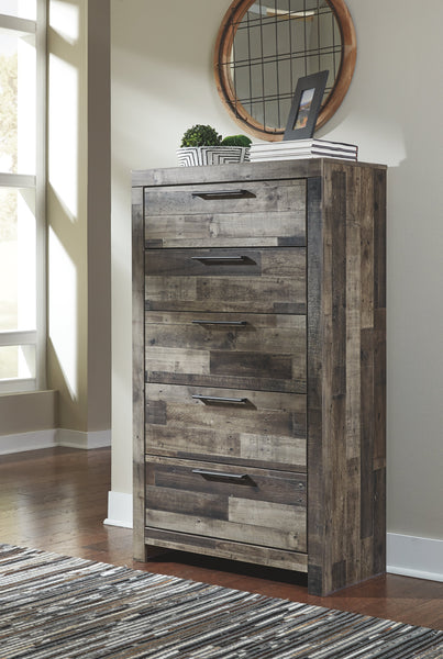 Derekson Multi Gray 5-Drawer Chest