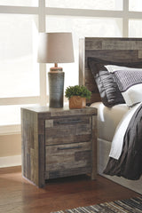Derekson Multi Gray 2-Drawer Nightstand