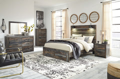 Drystan Multi Queen Bed w/ Dresser Mirror & Nightstand